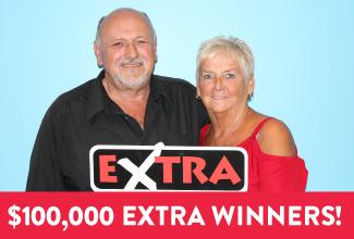 Saskatchewan Lotteries - Regina couple wins $100,000 on EXTRA!