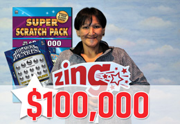 Saskatchewan Lotteries - SCRATCH 'N WIN (Zing) - Current Tickets